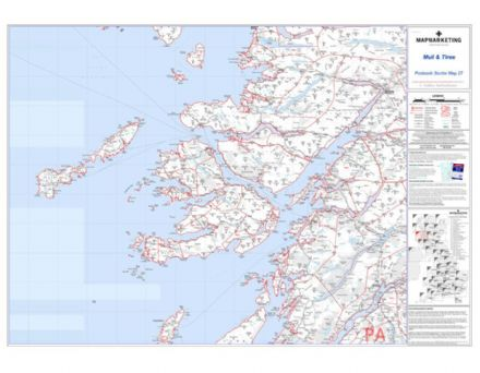Postcode Sector Map 27 Mull and Tiree